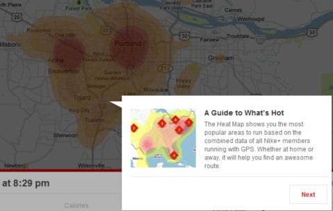 nike plus maps heatmap